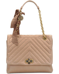 Lanvin Classic Happy Shoulder Bag Beige
