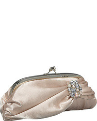 Beige Satin Clutch