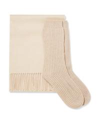 Johnstons of Elgin Cashmere Scarf And Socks Set