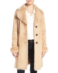Badgley mischka faux shearling lined coat medium 1248937