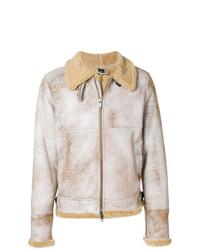 Beige Shearling Jacket