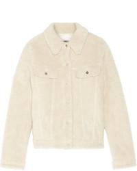 MM6 MAISON MARGIELA Teddy Faux Shearling Jacket Ecru
