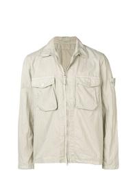 Stone Island Crinkle Styled Shrt Jacket