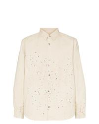 Vyner Articles Paint Splattered Shirt Jacket