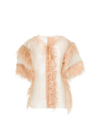 Maison Margiela Feather Sheer Top