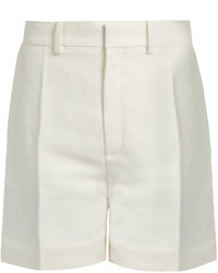 Chloé Chlo Tailored Linen Blend Shorts