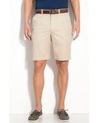 John W. Nordstrom Supima Cotton Flat Front Trouser Shorts