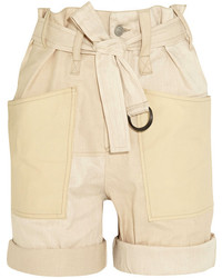 Isabel Marant Verna Stretch Cotton And Linen Blend Shorts