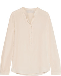 Stella McCartney Eva Silk Crepe De Chine Blouse Cream