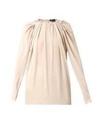 Lanvin Gathered Neckline Silk Georgette Blouse