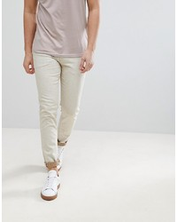 ASOS DESIGN Asos Skinny Jeans In Ecru With Nep