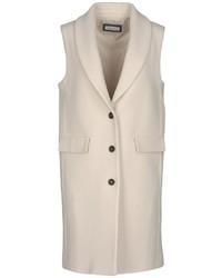 Beige Sleeveless Coat