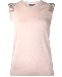 Lanvin Sleeveless Shoulder Embellished Tank