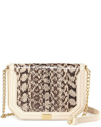Beige Snake Leather Crossbody Bag