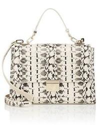 Beige Snake Leather Handbag