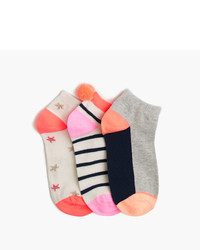 J.Crew Girls Summer Ankle Socks Three Pack