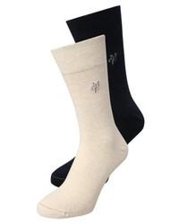 Larsen 2 pack socks beige medium 4163504