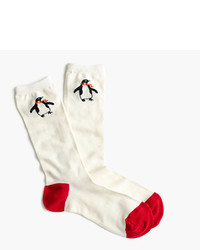 J.Crew Trouser Socks With Penguins