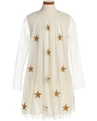 Stella McCartney Girls Kids White Misty Star Applique Tulle Dress