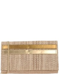 Beige Straw Clutch