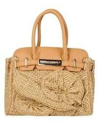 Beige Straw Handbag