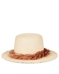 Gigi Burris Millinery Bridgette Raffia Trimmed Straw Hat