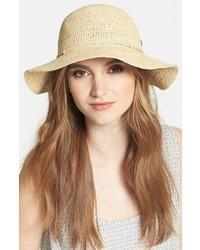 Helen Kaminski Caicos Raffia Hat Natural One Size