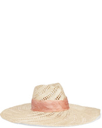 ... Eugenia Kim Cassidy Feather Trimmed Woven Straw Hat Beige 562aed2181c0