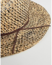 Asos Distressed Straw Fedora Hat