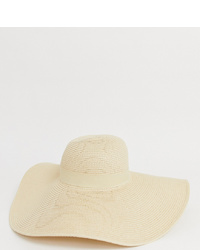 South Beach Straw Extra Wide Brim Floppy Wired Hat