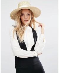 Mango Straw Hat With White Band