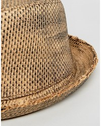 Asos Straw Pork Pie Hat With Distressing