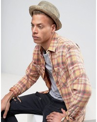 Asos Straw Pork Pie Hat With Distressing