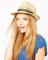 Liquorish Straw Trilby Hat