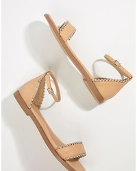 Missguided Studded Flat Sandals