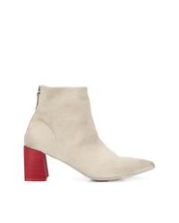 Marsèll Contrast Block Heel Ankle Boots
