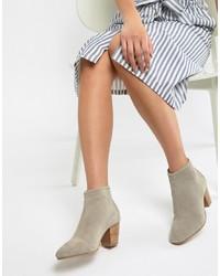 ASOS DESIGN Runaway Suede Ankle Boots Suede