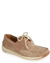 Beige Suede Boat Shoes