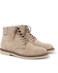 Loro Piana Icer Walk Cashmere Trimmed Suede Boots