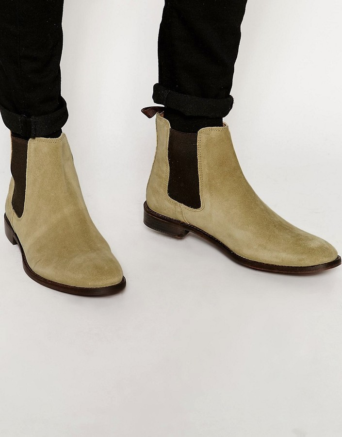 ASOS Chelsea Boots in Suede With Back Pull AFN3ys15y9
