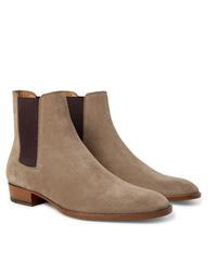 Saint Laurent Wyatt Suede Chelsea Boots