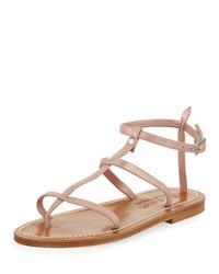 Gina metallic suede gladiator sandal rose gold medium 309298