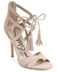 Azela tasseled lace up sandal medium 434462