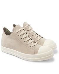 Rick Owens Cap Toe Suede Sneakers