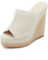 Michael Kors Michl Kors Collection Charlize Suede Wedge Mules