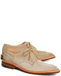 Beige Suede Oxford Shoes