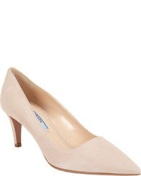 Beige Suede Pumps