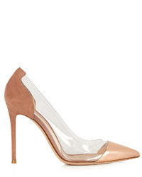 Gianvito Rossi Plexi Suede And Leather Pumps