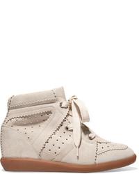 Bobby suede wedge sneakers beige medium 953940