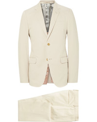 Gucci Ecru Monaco Slim Fit Stretch Cotton Suit